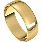 6mm Solid 18k Yellow Gold Wedding Band Size 4-20 Half Round Ultra Light Ring