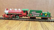 Bachmann N Scale 0-6-0 Steam Locomotive And Tender White Christmas Express