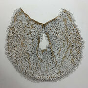 Antique Hand Beaded White Collar - Victorian Edwardian Clothing