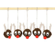 Felted Reindeer Ornaments, Hanging Rudolph The Red-nosed Reindeer For Xmas Tree