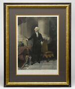 Antique George Washington After P. F. Rothermel Engraved By A. H. Ritchie
