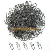 1000pcs Fishing Stainless Duo-lock Snap Swivel Solid Rings Fast Lures Connector
