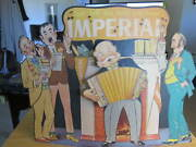 Vintage Imperial Whiskey Cardboard Stand-up Motion Sign 16x12