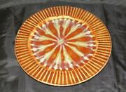 Richie Watts Good Earth Pottery Mississippi Stoneware Dinner Plate Brown And White
