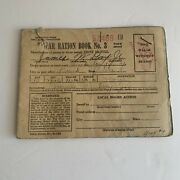 Vintage 1943 Wwii World War 2 Ration Book No 3 With Stamps