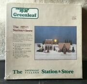 The Greenleaf Village Station And Store Model Train Building Dollhouse 1/4 Scale