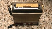 Autovox Transmobil 3 Tr3 Portable Car Radio Early 60and039s Tested Works W/ Mount