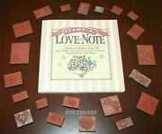 Stamp A Love Note Rubber Ink Stamps Craft Book Make Valentines Day Flower Hearts
