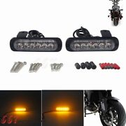 Motorcycle B6 Auxiliary Led Licence Plate Daytime Running Light Brake Taillight