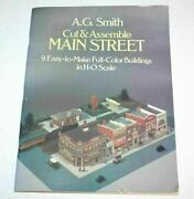 Cut And Assemble Main Street H-o Scale Town Buildings Train Station By A. G. Smith
