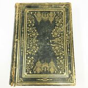 Rare 1869 Antique Leather Bible Family Parallel Holy Bible