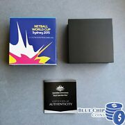 2015 Ram 5 Netball World Cup Sydney Silver Proof Domed Coin Certificate 47