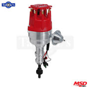 Msd Pro-billet Ready To Run Distributor With Steel Gear Fits Ford 289/302- Red