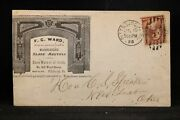 Pennsylvania Pittsburgh 1885 Ward Fireplace Mantles Advertising Cover + Letter