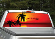 Beach Palm Trees 9 Tropical Sunset Rear Window Decal Graphic For Truck Suv