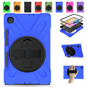 For Samsung Galaxy Tab S3 S4 S5e S6 Lite Rotating Stand Strap Rugged Case Cover