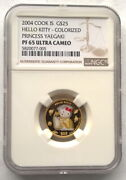 Cook 2004 Hello Kitty 25 Dollars Ngc Gold Coin,proof