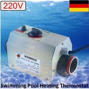220v 3kw Swimming Pool Electric Spa Heater Heating Thermostat Fix Temperature De