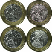 Set Of 4 Klondex Mines Ltd. 1.5 Oz .999 Silver Mining Rounds With Gold Overlays