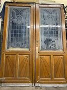 Etched Glass Parlor Doors 84x32 Ea 64 Total