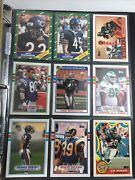 Close To 900 Football Cards In Folder Many Key Players And Rookies