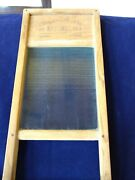 Vintage National 863 Washboard Company The Glass King Wood Wash Board Lingerie