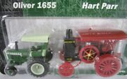 Oliver 1655 And Hart Parr Tractor Set  1/64 Scale New Ertl 2003