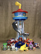 Lot Of Paw Patrol My Size Lookout Tower Chase Ryder Rubble Everest Skye Marshall