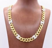 11mm Miami Cuban Mariner Cz Link Chain Necklace Box Clasp Real 10k Yellow Gold