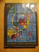 Chagall Vitraux Pour Jerusalem 1st Edition With 2 Original Lithographs