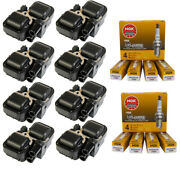 Uf359 8pcs Ignition Coil + Ngk Spark Plug For Mercedes-benz S350 C Clk Ml Class