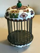 Fine Antique Chinese Insect Cage, 19th Century, Enameled And Painted Stunning