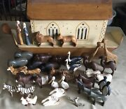 Royston And Co.noahand039s Ark Complete Figurine Set Rare Signed 175 April 1991