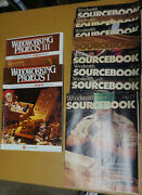 Sourcebook By Woodsmith Magazine And Woodworking Project Texts Lot Of 10 Issues