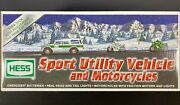 2004 Hess Truck Sport Utility Motorcycle 40th Anniversary New Gas Oil Station