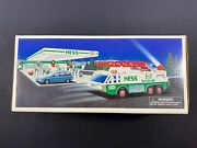 1996 Hess Toy Truck Emergency Fire Truck New Gas Oil Station Ambulance