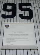 Austin Jackson Signed 2008 Game Used Home Yankees Jersey Steiner Coa