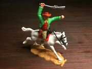 Timpo New Zealand Mounted Cowboy - Mega Rare - Wild West - 1970and039s