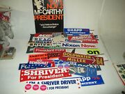Political Presidential Elections Bumper Sticker Lot Of 30+ 1960s And 1970s