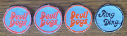 1960s 4 Vintage Drakes Cakes Devil Dogs Ring Ding 2 Sew On Patches Food Ads New