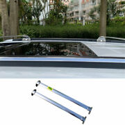 For 2017 2018-2020 Jeep Compass Chrome Steel Top Roof Cargo Rack Cross Bars 2pcs