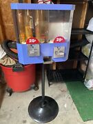 Used Vintage Oak Astro Vista Candy Gumball Machine 25 Cent Vend