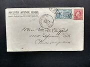 Rpo Erie And Pitts 1917 Beaver Falls, Pa. Hotel Special Delivery Cover