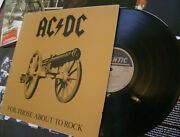 Ac / Dc - For Those About To Rock - 1981 Us Press / Ludwig Masterdisk / Gatefold