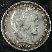 1899 P Barber Silver Half Dollar ☆☆ Circulated Damaged ☆☆ Great For Sets 447