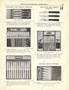1920s Antique Hardware Ad Kitchen Knives-spatulas-putty Knives-paint Scrapers