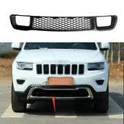 Front Lower Grille Grill Frame Trim 1pcs For 2014-2016 Jeep Grand Cherokee Black