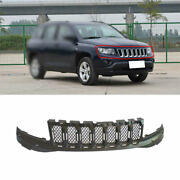 For 2011 2012-2016 Jeep Compass Black Front Front Bumper Center Hood Grill Mesh
