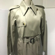 Unused Celine Trench Coat Mastic Double Face Outer Long Coat Beige 28v36 6073