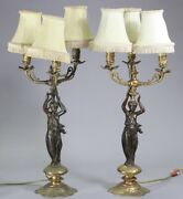 19th Century Solid Bronze Gilded Candleabra, Pair Of